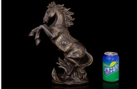 Wholesale Horse Bronze Sculpture - Lucky gift head Arts Crafts Copper bronze sculpture crafts high-end business gifts Home Furnishing ornaments Chinese horse immediately HD07