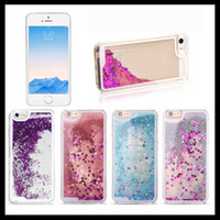 Wholesale S4 Liquid - For Samsung note 3 4 5 S4 6 7 edge Sparkle Glitter Stars Dynamic Liquid Quicksand Hard Case for iPhone 6 6s