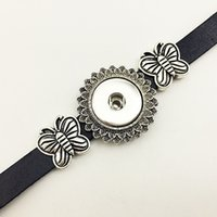 Wholesale Dress Jewelry Tree - Hot Sale Fashionnew LOVE tree Leather snap button Bracelet BT2567 (fit 18mm 20mm snaps) party dress jewelry DIY