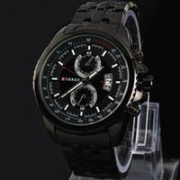 Wholesale Sport Watchband Quartz Wristwatch - 2017 leisure Male clock New Relogio Masculino New CURREN Fashion Men Watch Adjustable Stainless Steel Watchband Men Sport Quartz WristWatch