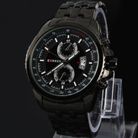 Wholesale curren black stainless steel sport watches for sale - 2017 leisure Male clock New Relogio Masculino New CURREN Fashion Men Watch Adjustable Stainless Steel Watchband Men Sport Quartz WristWatch