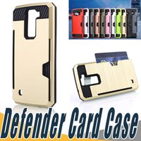 Wholesale Sumsung Case S4 - Credit Card Slot Phone Cases TPU+PC 2 In 1 ShockProof Defender shell For Sumsung S4 S5 S6 Edge Plus A510 A710 2016 Note 4 5 7 N9100 N9200