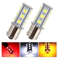 Wholesale 1156 Led Light Rv - 10pcs 1156 Car Light Car RV Trailer BA15S 5050 18SMD LED Light Bulb 7503 1141 1073 Brake Tail Turn Signal Light Bulb Lamp
