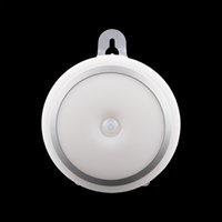 Wholesale Install Sensor Light - Wholesale- Light Sensor IR Sensor Night Light Lamp with Hook Wireless Easy Install Bathroom Cabinet Closet Night Lighting AAA Powered