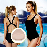 Wholesale Cheap Padded Swimsuits - Wholesale-Popular 1 Pair Woman Soft Sponge Bikinis Swimsuit Bra Push Up Removeable Bra Pads Cheap And New Hot Selling