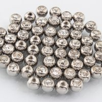 Wholesale Nipple Pearl - Balls crystal clear rose DIY Parts Plug Labret Lip piercing belly button ring Body jewelry nipple wholesale LOT