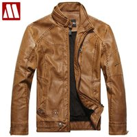 Wholesale Warm Leather Jackets For Men - 2017 New Arrivals Autumn Brand Leather Jacket for Men Jaqueta Couro Masculino Men's Bomber Leather Coat Fur Motorcycle Jackets