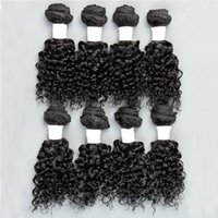 Wholesale Indian Curly Hair Wefts - Human Hair Wefts Kinky Curly Brazilian Hair Bundles 8pcs lot Unprocessed Cheap Brazilian Kinky Curly Hair 8 Inch 1B 2# Factory Price