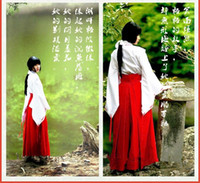 Wholesale Inuyasha Cosplay Costumes - Wholesale-2016 new Inuyasha COSPLAY clothing Animation bellflower same paragraph Miko clothes Costumes Accessories witch dress kimono