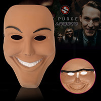 Wholesale Smile Face Mask - New Cosplay The Purge Smiling Face Mask Festival Party Halloween Mask --- Loveful