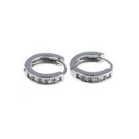Wholesale Hoop Jade - Hoop Earrings For Women Girl New Fashion Silvering Plated Cz Small Round Hie Hoop Earrings Lady Jewelry 2016 Hot Sale bijoux