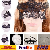 Wholesale Halloween Sexy Costume For Ladies - Fashion Sexy Lace Party Masks Women Ladies Girls Halloween Xmas Cosplay Costume Masquerade Dancing Valentine Half Face Mask WX-M03