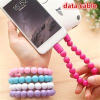 Wholesale Buddha Phone - 6 color Buddha Beads Bracelet Micro USB Charger Cable Universal phone data cable mobile phone Charging Adapter Cord zpg242