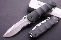 Wholesale Sharp Collection - Hiking Knife Sharp MAXAM Y0853 Black Bear Gray Titanium 440 Blade 56HRC Cool Knife Folding Serrated Pocket Collection Knife F527E