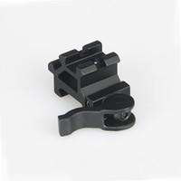 trilho de montagem óptica venda por atacado-Tactical Caça scope rifle mount óptica vista / laser / montagem lanterna 20mm se encaixa qualquer ferroviário picatinny Frete Grátis