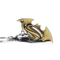 Wholesale Black Keys Signed - Hot Film The Avengers Superman S Sign Key Chain Cell Phone Charm Zinc Alloy Silver Tan Color