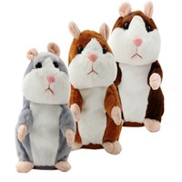 Wholesale Hamsters Sale - 15CM Lovely Talking Hamster Plush Toy Cute Speak Talking Sound Record Hamster Talking Toys for Children sale