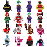 Wholesale 25pcs Bat Movie Figures Complete Set Super Heroes Minifig Bat Man Super Hero Rainbow Mini Building Blocks Figure Toys OTH548