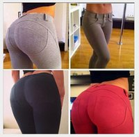 Wholesale Plus Size High Waisted Pants - pcs Plus Size Leggings Slim Fitness Women Hip Push Up High Waisted Elastic Legging Pants Sexy Pencil Stretch Jeans Skinny Jeggings