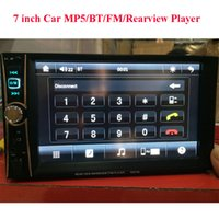 Wholesale Universal Double Din Car Radio MP5 Player quot Digital Touch Screen Video Player Support Bluettoth Rear view FM AUX USB SD Auto Electronics