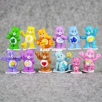 Wholesale Care Bear Wholesale - 12Pcs Lot Japanese Anime kawaii Action Figure Care Bears Best Kids Toys For Boys And Girls