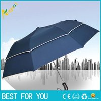 Wholesale Advertising Gift Business - Personalized double-layer golf folding umbrella creative large sunny business gift advertising umbrella