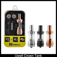 Wholesale Ss Atomizer - Uwell Crown TC Atomizer Rose Gold 4ml Top Refilling Sub Ohm Tank Huge Vapor Black SS Color VS Smok TFV4 iSub Apex Atomizer