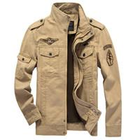 Wholesale Mens Coats Xl Usa - 2017 Mens Military USA Army Flight Slim Zipper Jackets Air Force jacket Coat HN193
