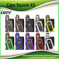 Wholesale Peak Metal - Original Ijoy Capo Squonk 100W Starter Kits with Combo RDA Triangle 20700 Battery 3000mAh 40A Peak With 9ml Empty Bottle Kit 100% Genuine