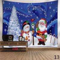 Wholesale Christmas Decoration Patchwork - Merry Christmas Tapestry Santa Carpet Snowman Wall Hanging Tapestries Decorative Xmas Wall Decorations Yoga Mat