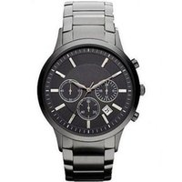 Wholesale ceramic classic - 2015 Mens Fashion Classic Chronograph Gunmetal Ion Steel Black Men's Watch AR2453