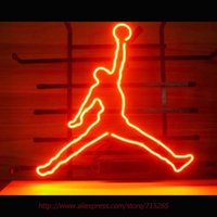 реальные штриховые знаки оптовых-Wholesale-  New Basketball Sport Neon Bulbs Neon Signs Real Glass Tube Art Handcraft Sign Decorated Beer Bar Pub Fast Shipping VD17X14