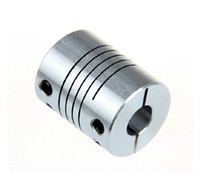 Wholesale Clamped Coupling - New Aluminum alloys Clamping Type Thread winding elastic coupling for the servo and stepper motor size D=20 L=25 D1=5mm D2=8mm