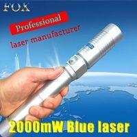 Wholesale 445nm Burning Laser - Powerful 445nm blue laser flashlight ignition wild blue laser pointer   focusable, self-defense laser pointer   burning capabilities   beaut