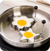 Wholesale Wholesale Stainless Steel Kitchenware - FEDEX Wholesale 50sets 200pcs star flower heart circular Stainless Steel Eggs Fried Device Fried Pans Eggs Tool Kitchenware