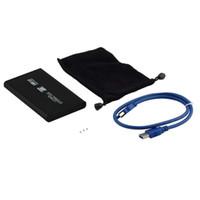 sdd sata sürücüsü toptan satış-USB3.0 USB 3.0 HDD Sabit Disk Disk Mobil Harici Muhafaza Kutusu Kasa 2.5