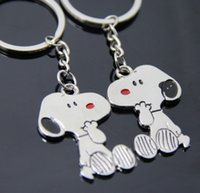 Wholesale Key Couple Cute - Snoopy Peanut Dog Keychain Cartoon Keyring Key Cute Creative Gift Lovers Key Ring Couple Keychain Rings Snoopy advertising