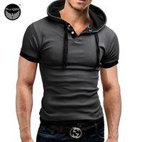 nouveaux modèles de chemises pour hommes achat en gros de-2016 NEW 100% Coton T-shirts Hommes Shorts Manches Marque Conception Été Homme Tops T-shirts De Mode T-shirts Casual Pour Homme