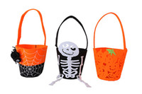 Wholesale Skeleton Hand Bags - Hottest Sale Crazy Halloween Hand Bag Party Children's Candy Bags Costume Skeleton Pumpkin Bag Party DHL Fedex Shipping