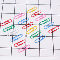 Wholesale Vinyl Paper Clips - 1000 pcs   33mm Colorful Paper Clips And Pins Vinyl Paint New Ticket Holder Stationery free shipping