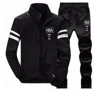 Wholesale 4xl Sweat Pants - Mens Sweat Suits Autumn Brand Mens Tracksuits Sets Jogger Jacket + Pants Sporting Suit Hip Hop Sweatshirts Sudaderas Hombre