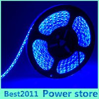 5M Roll 2835 SMD 12v étanche 120 LED / M 600 LED Warm Cool Blanc Rouge Vert Bleu Jaune Flexible LED Strip Light
