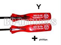 Wholesale Gba Sp Repair - 360 Red Handel 2.5 Y Tri-Wing Triangle Key   2.0 Phillips Screwdrivers DIY Repair Tools For NDS NDSL GBA SP 200pcs lot