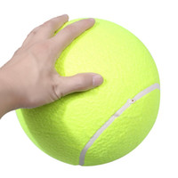 Wholesale Big Play Balls - Big Giant Pet Dog Puppy Tennis Ball Thrower Chucker Launcher Play Toy Outdoor Sports With Super Thick Natural Rubber Walls