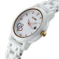 Wholesale Dom Ceramic - Watch women fashion luxury Brand Top Watches DOM T-580 lady quartz wristwatches crystal Ceramic dive 200m clock relogio feminino