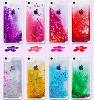 Wholesale iphone dynamic sand case - Dynamic Liquid Glitter Sand Case Crystal Clear Quicksand Star Cases Shockproof PC Cover For iphone s se s plus plus X