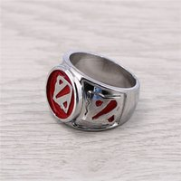 Al por mayor- J Store Souvenir Dota 2 Logo Anillos de acero para Dota2 Game Fans Jewelry men Ring Jewelry Accessories