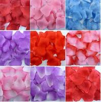 konfeti yaprakları toptan satış-5000 ADET Düğün Parti Dekorasyon Masa Konfeti Kumaş İpek Çiçek Gül Yaprakları