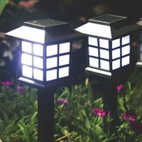 Gros-New Design LED Solaire Stake Garden Path Lanternes Lampes Outdoor Diamonds LED Pathway Lawn Light Solar Light
