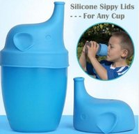 Wholesale Making Drinks - BPA Free Silicone Stretch Lids Silicone Sippy Lids for Baby Drinking Converts Any Glass to a Sippy Bottle Makes Drinks Spillproof Lids 876